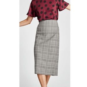 Zara houndstooth skirt